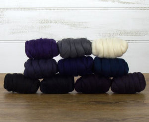 Napa Valley Fibers Starry Night Merino Mixed Bag Dyed Fiber