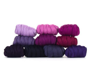 Napa Valley Fibers Very Berry Merino Mixed Bag Dyed Fiber