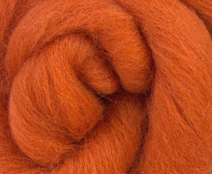 Shetland Dyed Wool Top Cinnamon ~ 4 Oz Fiber