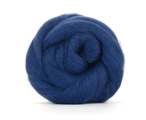Shetland Dyed Wool Top Denim ~ 4 Oz Fiber