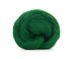 Shetland Dyed Wool Top Forest ~ 4 Oz Fiber