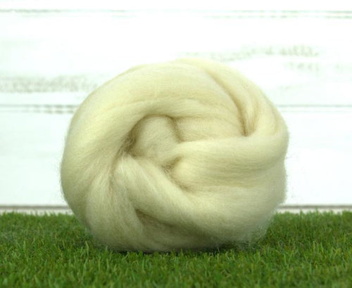 Shropshire Wool ~ Natural White Top 4 Oz Fiber