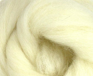 White Jacob Wool Top ~ Natural 4 Oz Dyed Fiber