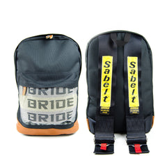 Black Bride Backpack with SABELT Style Harness Straps