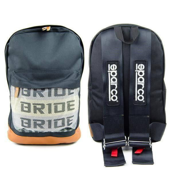 Black Bride Backpack with SPARCO Style Racing Harness Straps