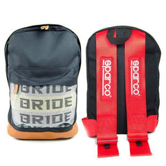 Bride Backpack with RED SPARCO Racing Harness Straps