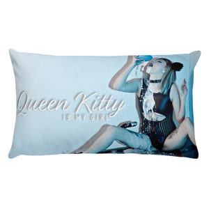 """Dirty Kitty"" Throw Pillow by Queen Kitty"