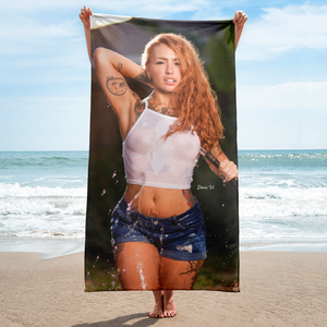 """Wet T-shirt Contest"" Beach Towel by Dani Vi"
