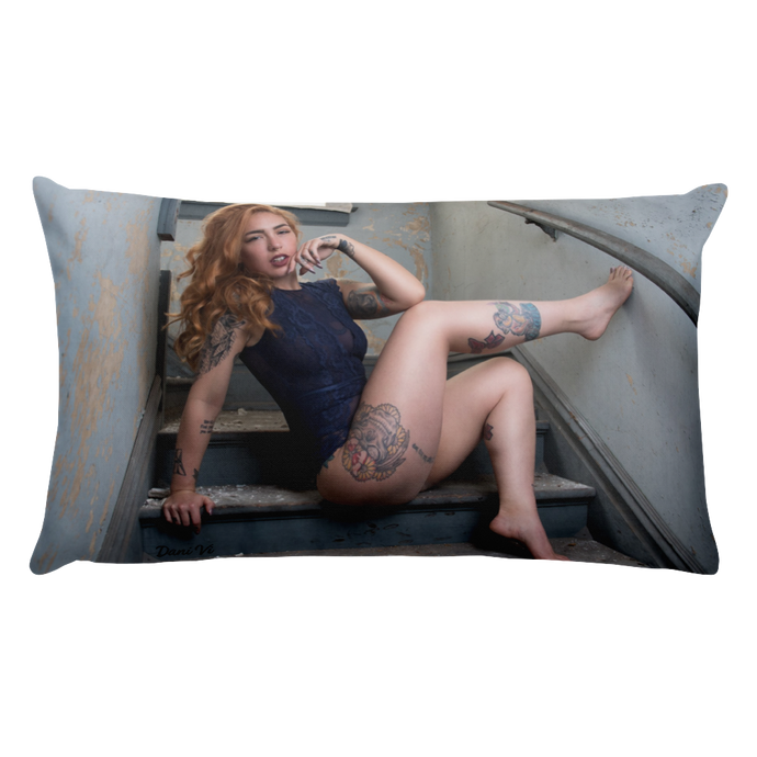 """Climb on Me"" Throw Pillow by Dani Vi"