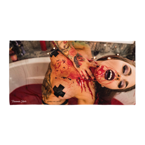 """Blood Queen"" Beach Towel by Tianna Star"