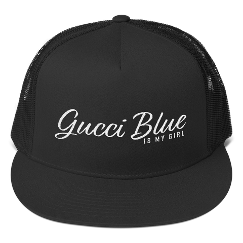 """Gucci Blue IMG"" Snapback Trucker Hat by Gucci Blue"