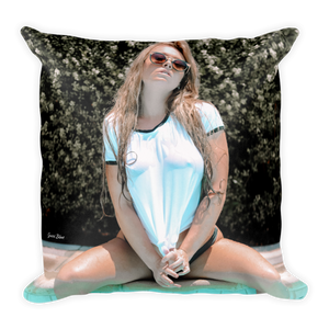 """Summertime"" Throw Pillow by Gucci Blue"
