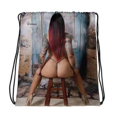 """Get A Grip"" Drawstring Bag by Wishbone"