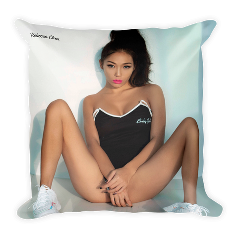 """Baby Girl"" Throw Pillow by Rebecca Chen"