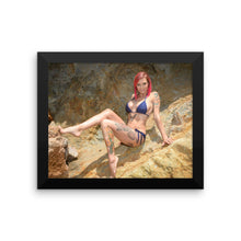 """On the Rocks"" Framed Art Print by Anna Bell Peaks (More Options)"