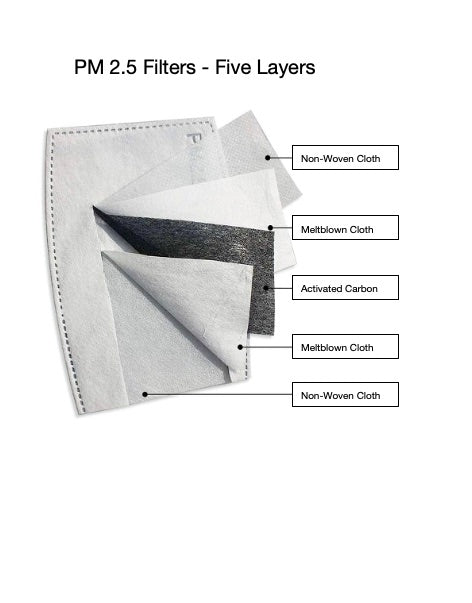 Face Mask Filters - PM 2.5 Filter Packs