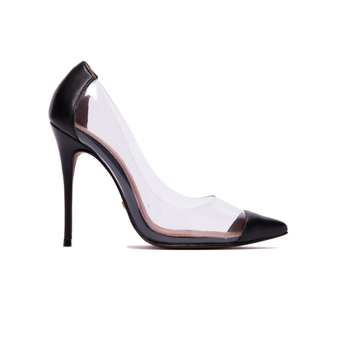 Corazon Black Clear Pumps