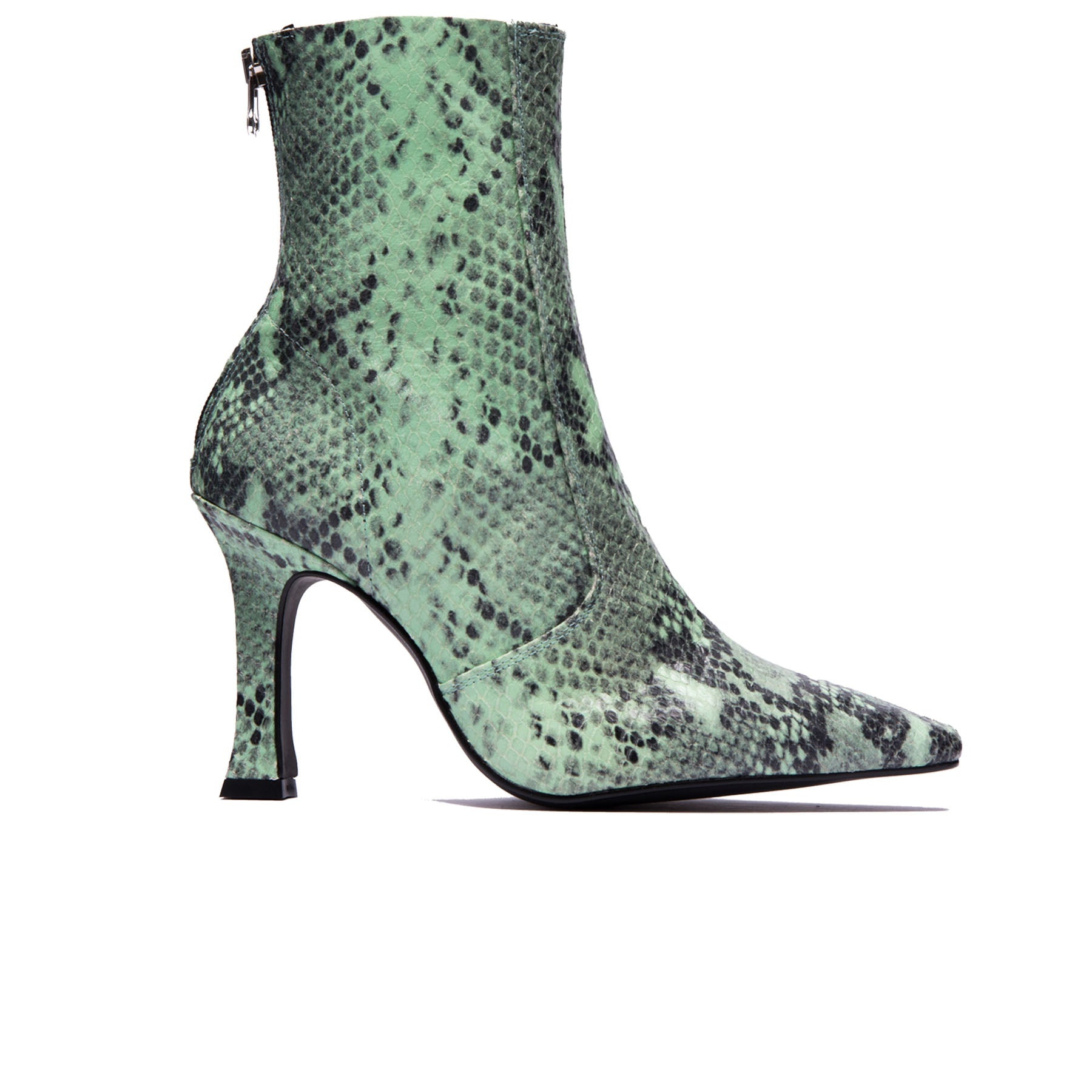 Dukette Light Green Snake Boots