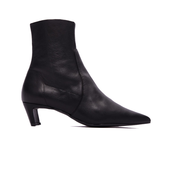 57842223afeb Paola Black Leather Ankle Boots