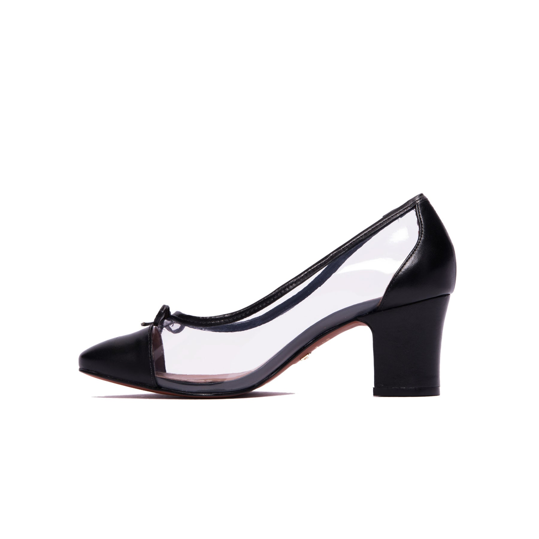 Reinita Black Clear Pumps