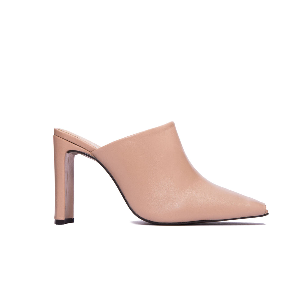 Load image into Gallery viewer, Elegant Blush Leather Mule