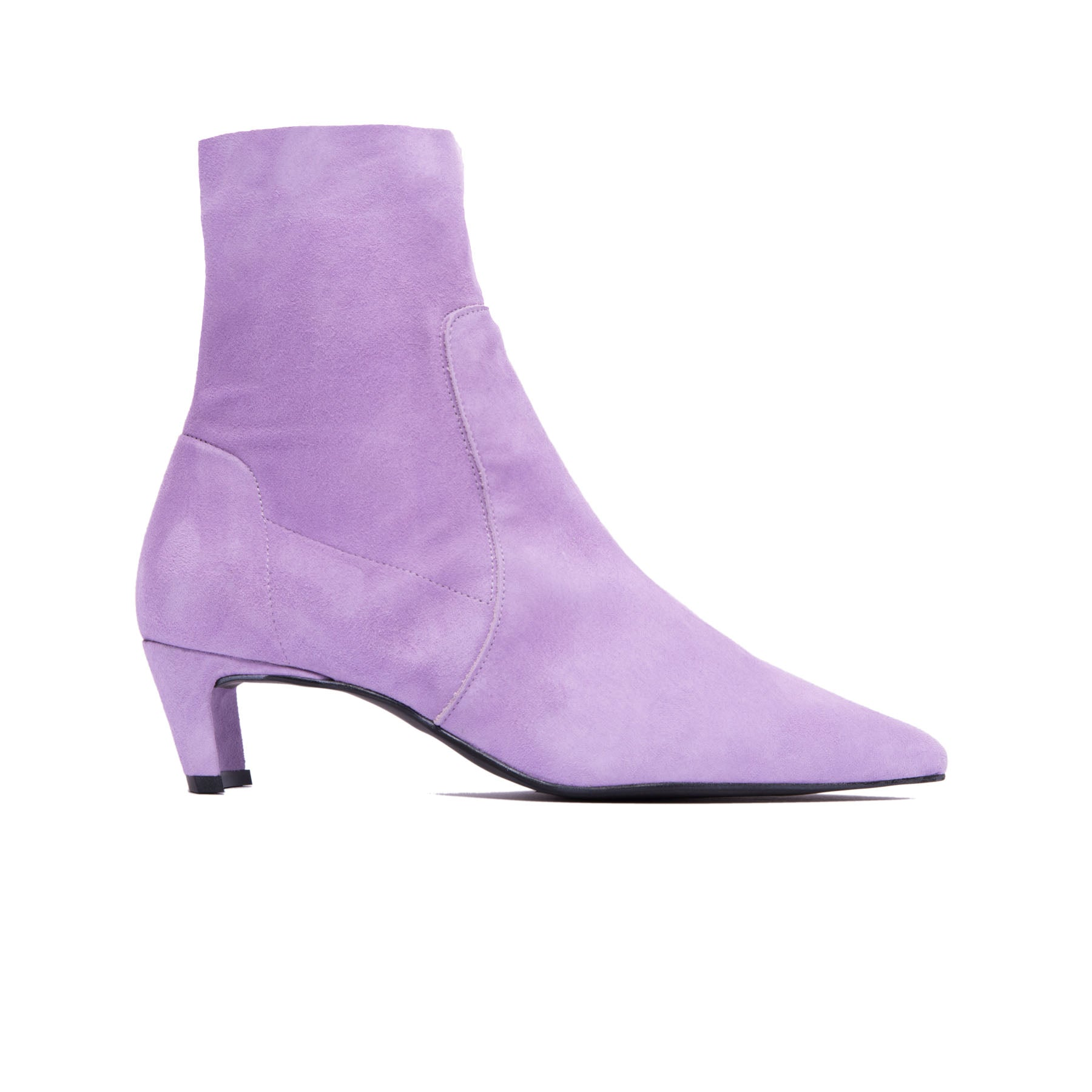 Paola Lilac Suede Ankle Boots