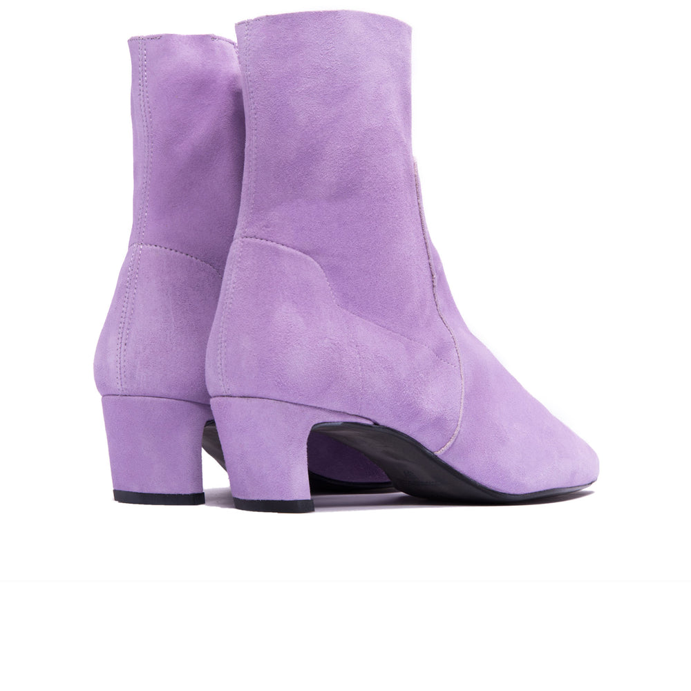 Paola Lilac Suede Ankle Boots- SOLD OUT