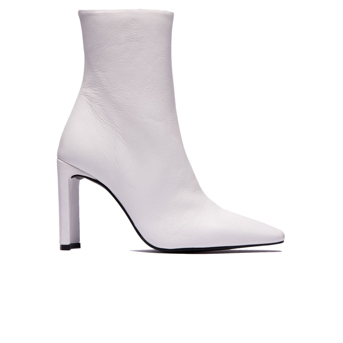 e5fe82489983 Lyon White Leather Ankle Boots