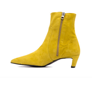 Paola Mustard Suede Ankle Boots- SOLD OUT