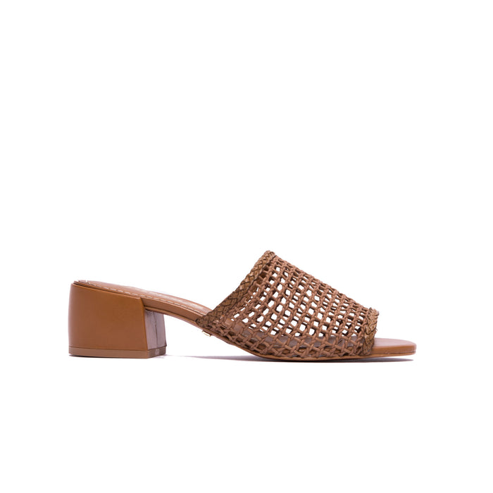 Dia Chestnut Leather Sandals