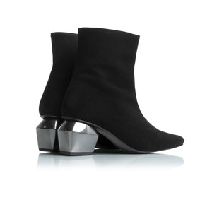 Load image into Gallery viewer, Christina Black Suede Ankle Boots