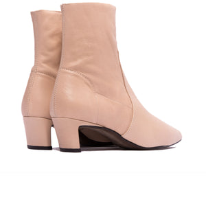 Load image into Gallery viewer, Paola Nude Leather Ankle Boots