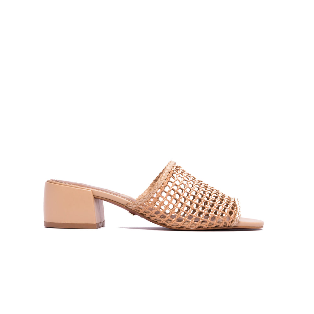 Dia Cream Leather Sandals