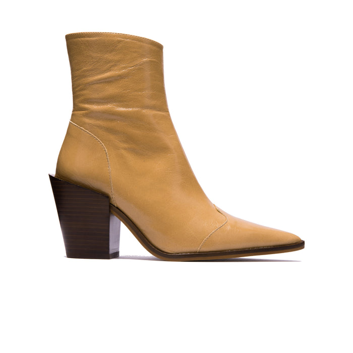 Veracruz Nude Leather Ankle Boots