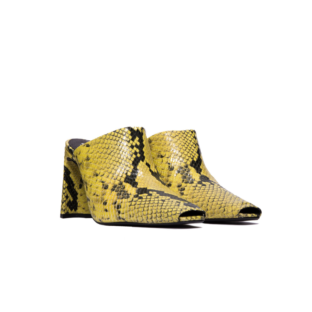 Load image into Gallery viewer, Elegant Yellow Snake Mule