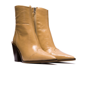 Veracruz Nude Leather Ankle Boots - SOLD OUT