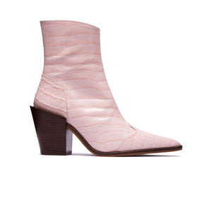 Load image into Gallery viewer, Veracruz Pale Pink Croco Ankle Boots