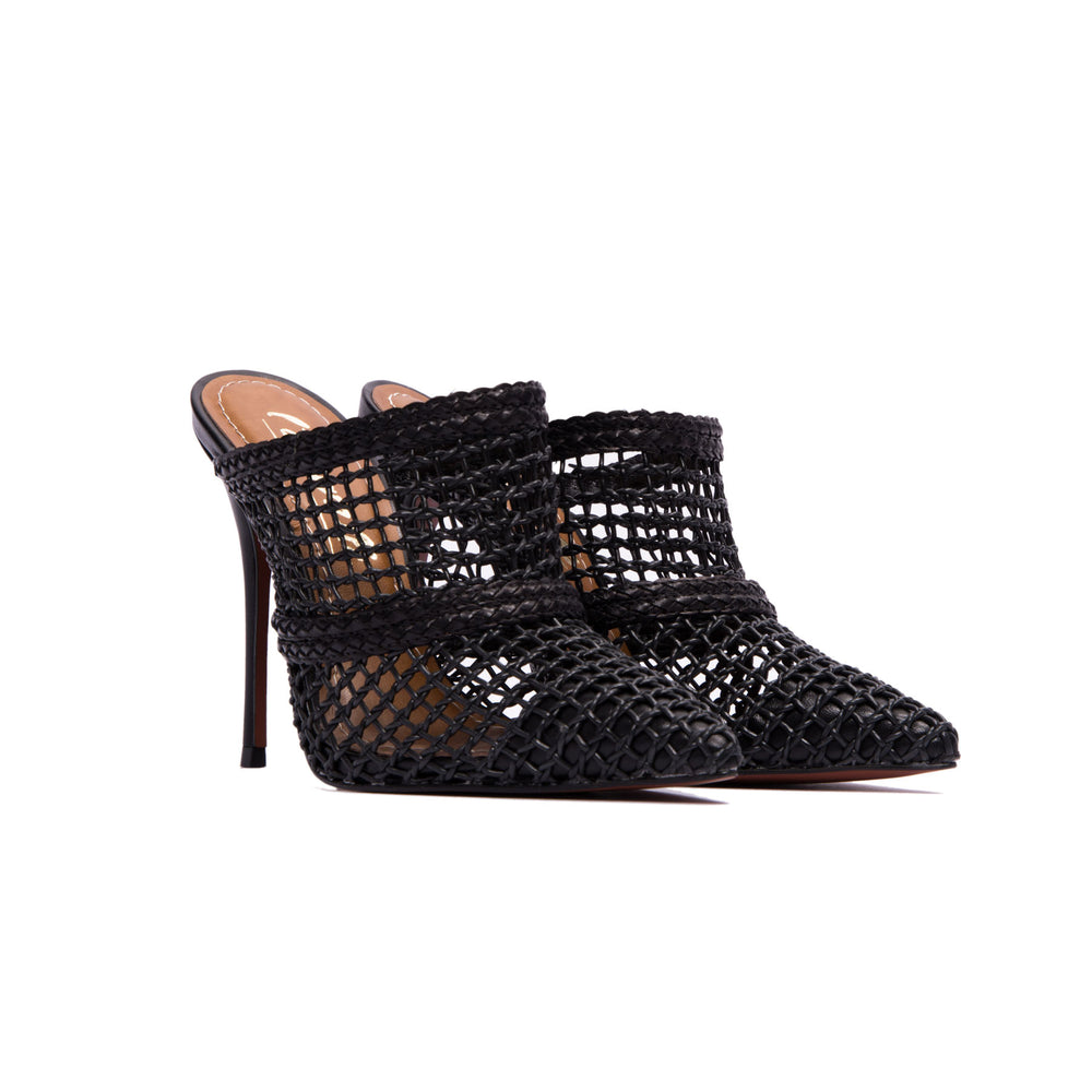 Miha Black Leather Pumps