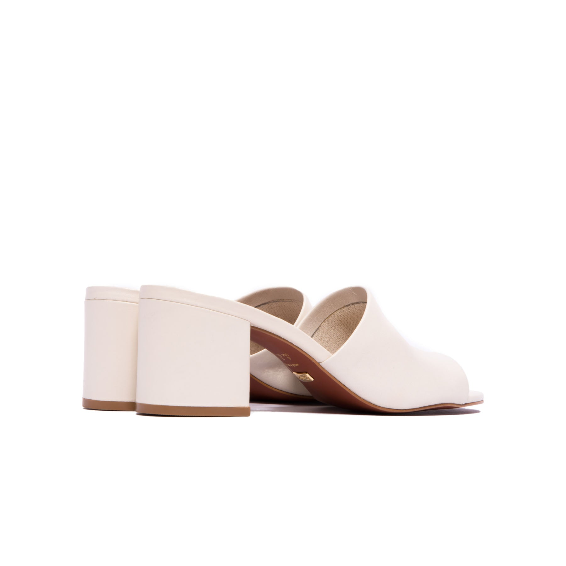 Dina Vanilla Leather Mules