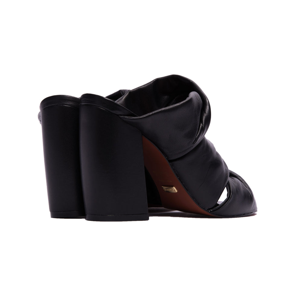 Load image into Gallery viewer, Suave Black Leather Mule