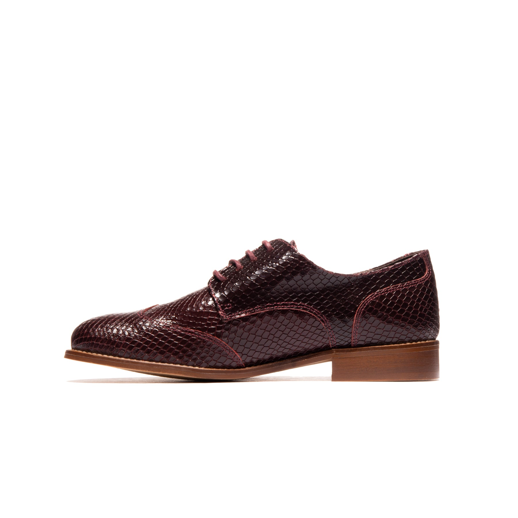 Marti Bordeaux Snake Leather