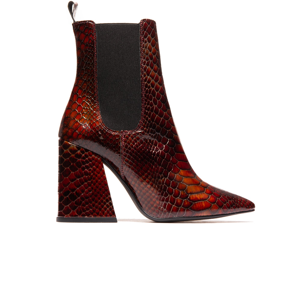 Frederica Red Snake Leather