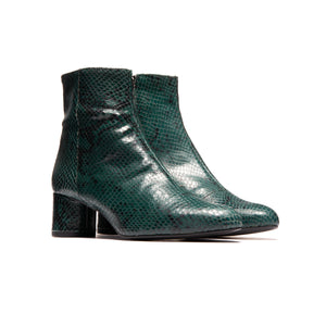 Fredonia Dark Green Snake Leather