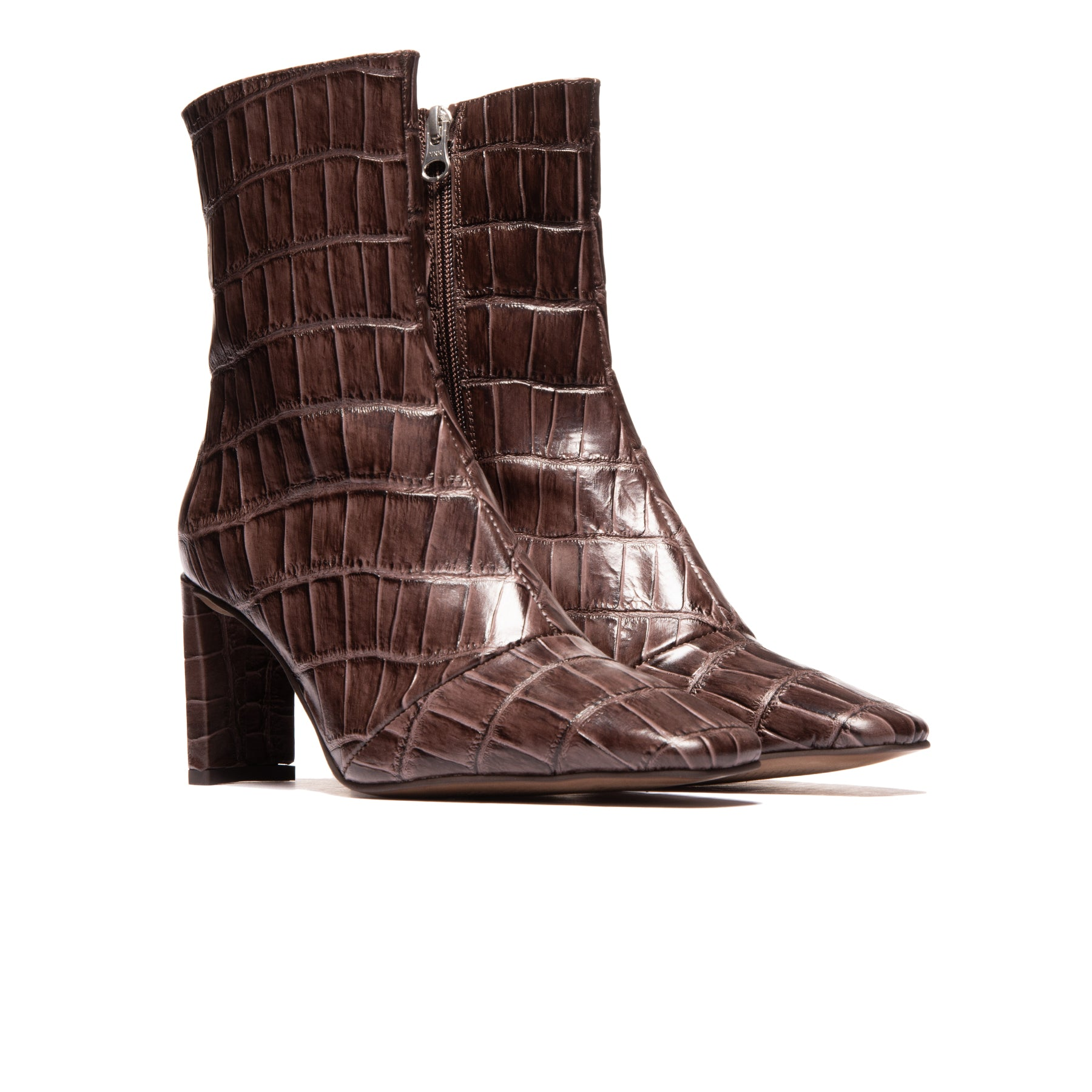 Elgin Brown Croco Leather