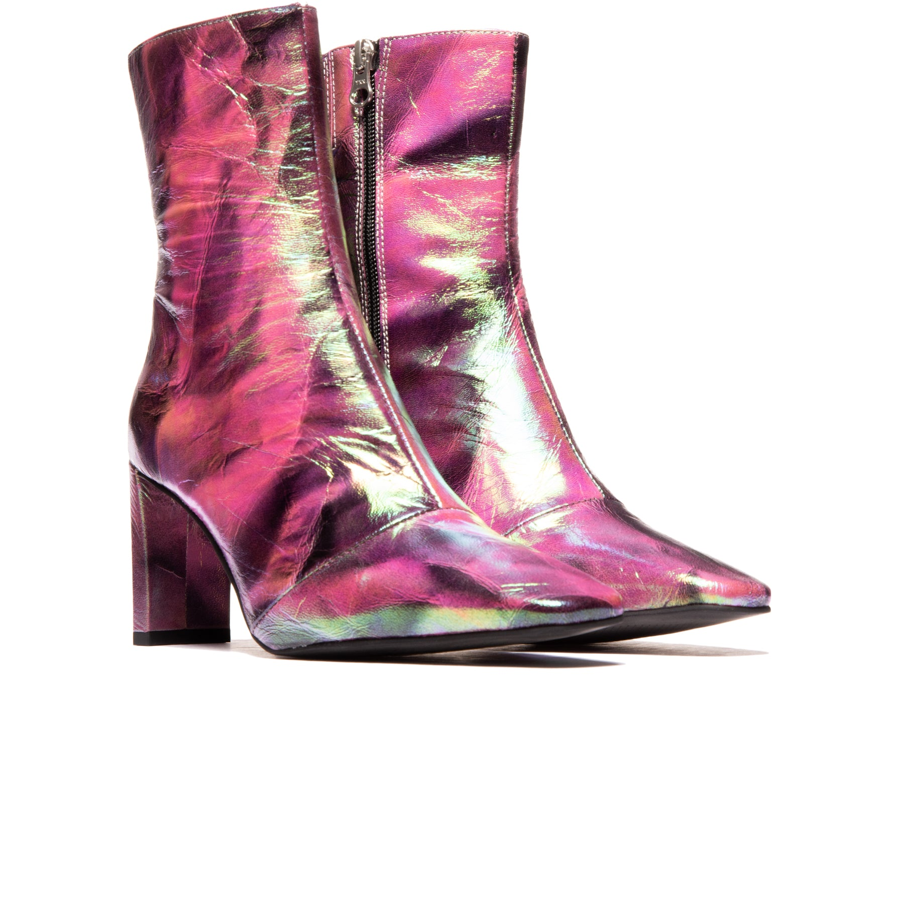 Elgin Fuschia Metallic Leather