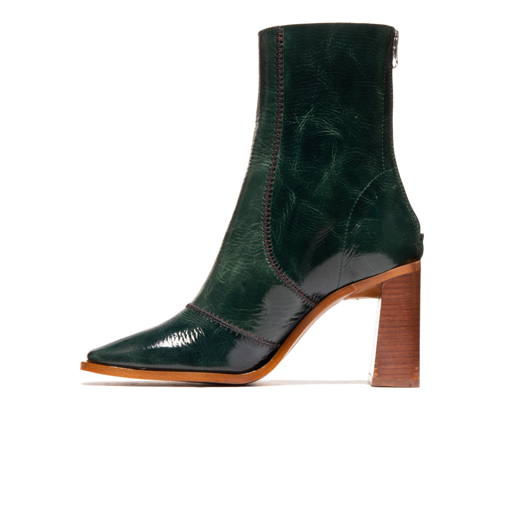 Ambar Green Leather