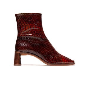 Dundee Red Snake Leather