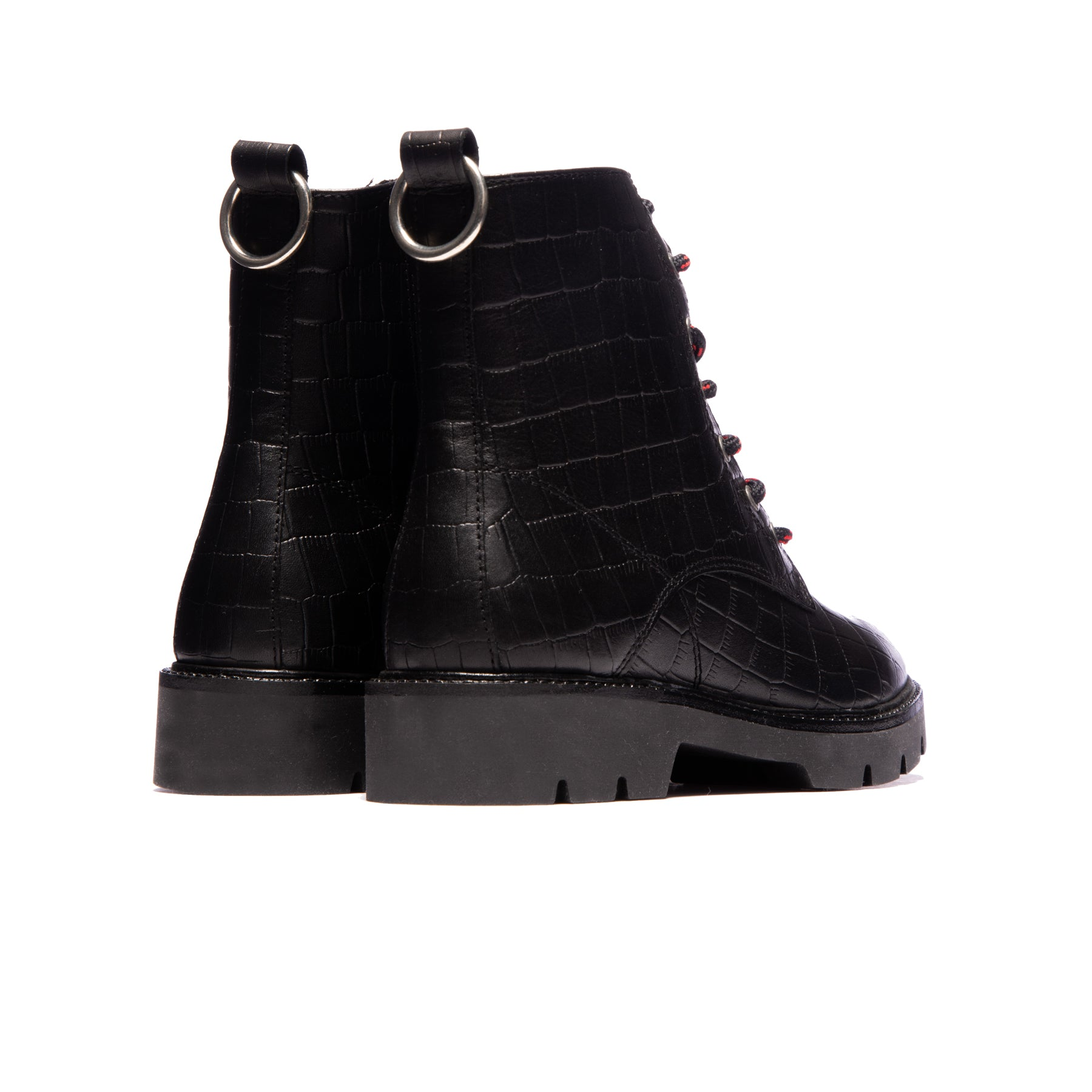 Gene Black Croco Leather