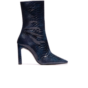 Stavi Blue Vintage Snake Leather