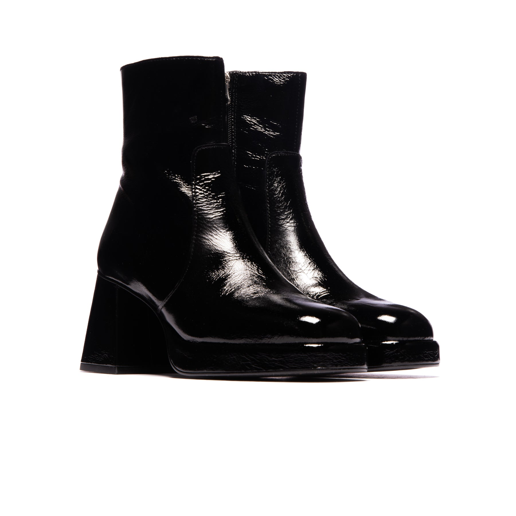 Wexford Black Leather/Black Heel